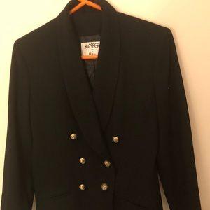 Black Double Breasted Jacket   6 Kasper A.S.L.